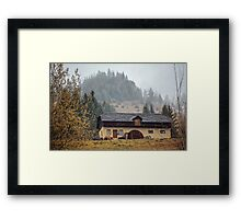House by the mountains Framed Print