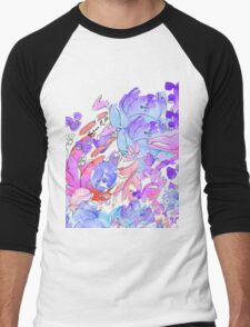Watercolor Flowers Men's Baseball ¾ T-Shirt