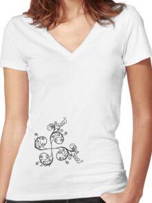 k6 Women's Fitted V-Neck T-Shirt