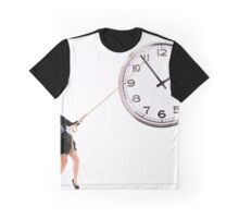 Businesswoman trying to stop time Graphic T-Shirt