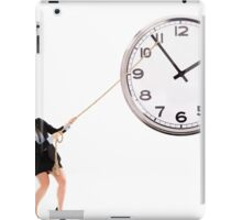 Businesswoman trying to stop time iPad Case/Skin