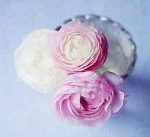 Summer Pastel Ranunculus by Nicola  Pearson