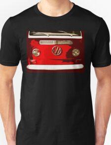 Volkswagen combi Illustration red version Unisex T-Shirt