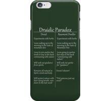 The Druidic Paradox iPhone Case/Skin