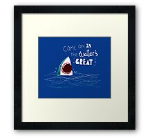 Great Advice Shark Framed Print