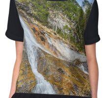 Waterfall in the mountains Chiffon Top