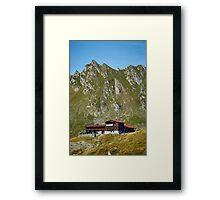 Resort below mountains Framed Print