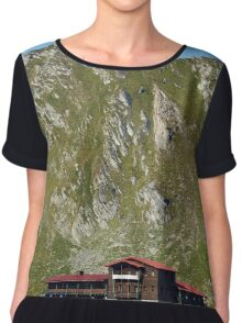 Resort below mountains Chiffon Top