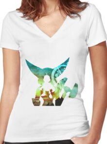 Ratchet and Clank. A Crack in Time Women's Fitted V-Neck T-Shirt