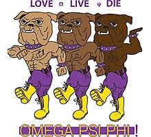 Omega Psi Phi - Love Live Die Dogs Photographic Print