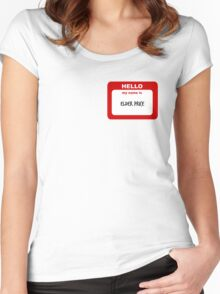 Hello My Name Is Elder Price Trash  Women's Fitted Scoop T-Shirt