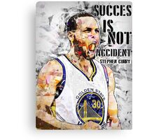 Stephen Curry Quote Succes Is Not Accident Canvas Print