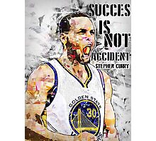 Stephen Curry Quote Succes Is Not Accident Photographic Print