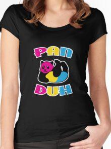 Pan Duh Panda Pansexual LGBT Pride Women's Fitted Scoop T-Shirt