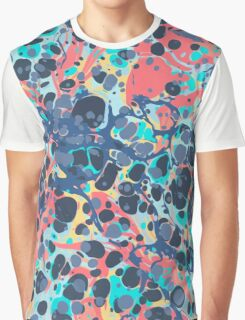 Urban Hip Hop Splash Psychedelic Colors Abstract Pattern Graphic T-Shirt