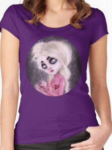 lost forever in a dark space Women's Fitted Scoop T-Shirt