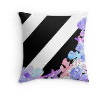 Flowers & Stripes Throw Pillow
