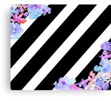 Flowers & Stripes Canvas Print