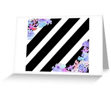 Flowers & Stripes Greeting Card