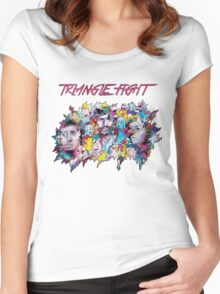 Triangle Fight's Face-Splash Women's Fitted Scoop T-Shirt