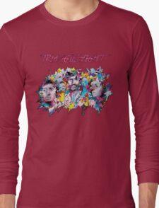 Triangle Fight's Face-Splash Long Sleeve T-Shirt