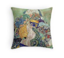 Gustav Klimt - Baby ,Cradle  Throw Pillow