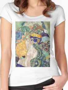 Gustav Klimt - Baby ,Cradle  Women's Fitted Scoop T-Shirt