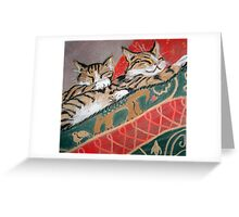 Kittens Sleeping Greeting Card