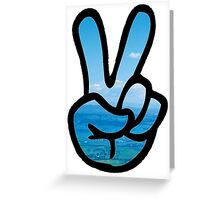 Adventurer Peace Sign Greeting Card