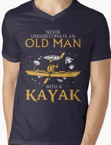 old man with a kayak Mens V-Neck T-Shirt