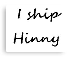 I ship Hinny (Cursive) Canvas Print