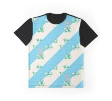 Abstract Japanese Garden with White Camellias, Stone Lanterns, and Streams Graphic T-Shirt