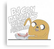 Jake  Bacon Pancakes adventure time Canvas Print