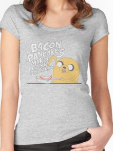 Jake  Bacon Pancakes adventure time Women's Fitted Scoop T-Shirt