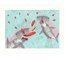 Sharks eat sherbert  Art Print