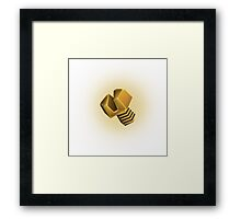 Golden bolt Framed Print