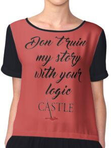 Castle quote Chiffon Top