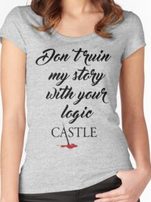Castle quote Women's Fitted Scoop T-Shirt