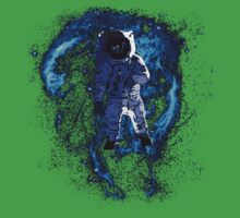 Space - Astronaut standing in the Nebula Kids Tee