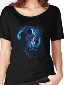 Space - Astronaut standing in the Nebula Women's Relaxed Fit T-Shirt