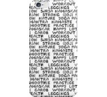 Yoga text  iPhone Case/Skin