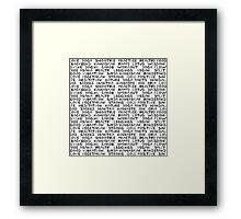 Yoga text  Framed Print