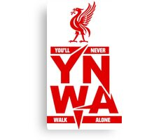liverpool youre never walk alone Canvas Print