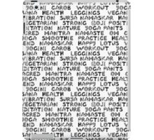 Yoga text  iPad Case/Skin