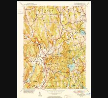USGS TOPO Map Connecticut CT Woodbury 461088 1950 31680 Unisex T-Shirt
