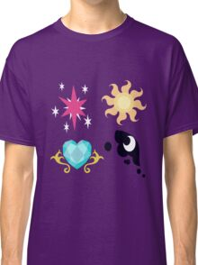My little Pony - The Four Princesses of Equestria Cutie Mark Classic T-Shirt