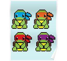 Cute TMNT Pixel Poster