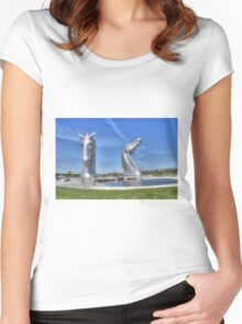 The Kelpies sculptures  Women's Fitted Scoop T-Shirt
