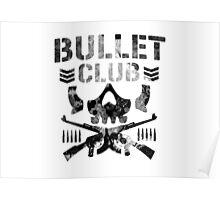 Bullet Club black splat logo Poster