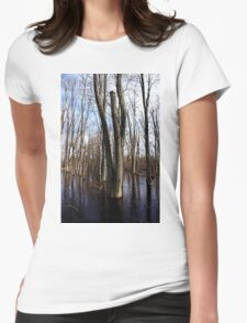 Melting Into Spring Womens Fitted T-Shirt
